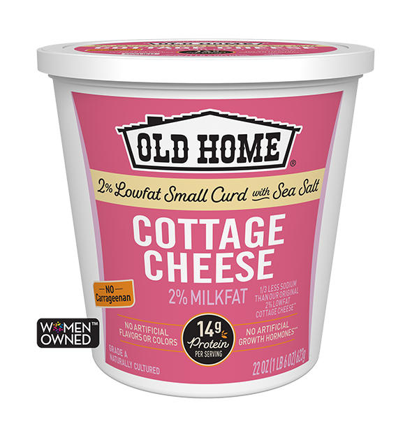 2% LOWFAT COTTAGE CHEESE WITH SEA SALT
