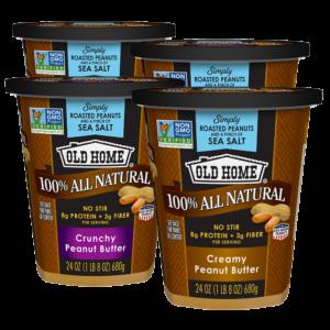 Old Home Foods Peanut Butter 24oz Bundle